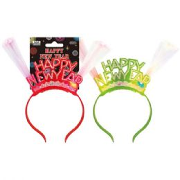 96 Units of New Year Headband With Flash - New Years