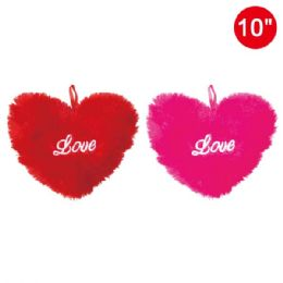 "96 Units of 10"" Embroidery velvet heart - Valentine Cut Out's Decoration"