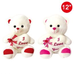 "12 Units of 12"" Bear with heart - Valentines"