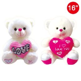 "12 Units of 16"" Bear with heart - Valentines"