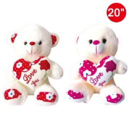 "6 Units of 20"" Bear with heart - Valentines"