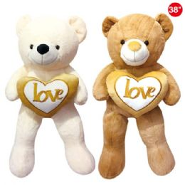 "8 Units of 38"" Bear With Heart - Valentines"
