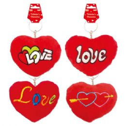 "144 Units of 4"" V-day Key Chain - Valentines"