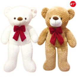 "8 Units of 41"" Bear With Bow - Valentines"