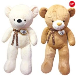 "6 Units of 53"" Bear With Bow+heart - Valentines"