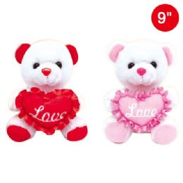 "24 Units of 8""Bear With/heart - Valentines"