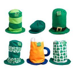 48 Units of St Pats Felt Hat in 6 asst Mixed Styles W/jhook - St. Patricks