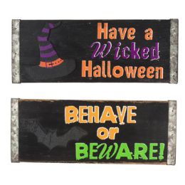 48 Units of WALL PLAQUE HALLOWEEN WELCOME