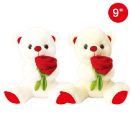 "24 Units of 9"" Bear With Rose - Valentines"
