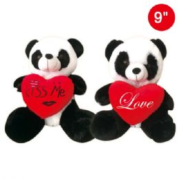 "24 Units of 9"" Panda With Heart - Valentines"