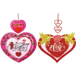 96 Units of Valentines Day Plaque - Valentine Decorations
