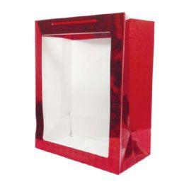 "96 Units of Hologram window bag/Large 10.6x13.8x6"" - Valentine Gift Bag's"