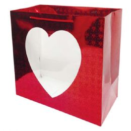 "96 Units of Hologram window bag/Large 13.8x12.6x7""/HZTL - Valentines"