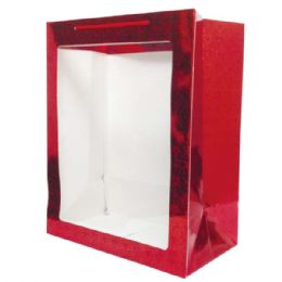 "72 Units of Hologram Window Bag/xlarge 12x20x8"" - Valentine Gift Bag's"