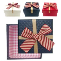 "96 Units of Square Box With Bow 5x5x2.4""h - Valentines"