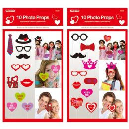 "96 Units of V-day 10 count/12"" photo props - Valentines"