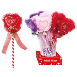 96 Units of V-Day Heart Ball Pen - Valentines