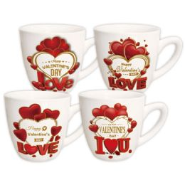96 Units of V-Day Mug Assorted Design. 12oz - Valentines
