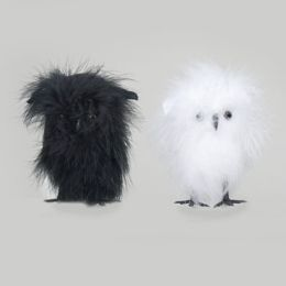 72 Units of 4in Feathered Owl in 2 asst Colors
