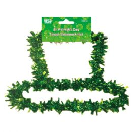 96 Units of St. Patrick Tinsel hat - St. Patricks
