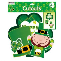 96 Units of Three Piece St. Patrick Cutout - St. Patricks