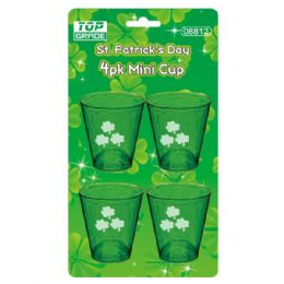 96 Units of Four Pack St. Patrick Mini Cup - St. Patricks
