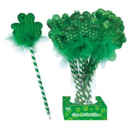 144 Units of Ball pen with shamrock - St. Patricks
