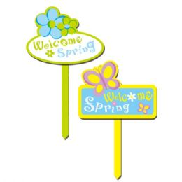 "96 Units of 14"" Spring Yard Sign - Easter"