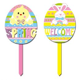 "96 Units of 14.5"" Welcome Yard Sign - Easter"