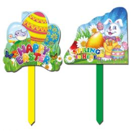 "96 Units of 22"" Plastic Yard Sign - Easter"