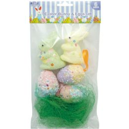 108 Units of Foam Bunny And Egg Set - Easter