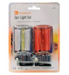 48 Units of 2 Piece Bicycle Safety Flashlight Set - Biking