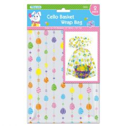 96 Units of Cello Basket Wrap Bag - Easter