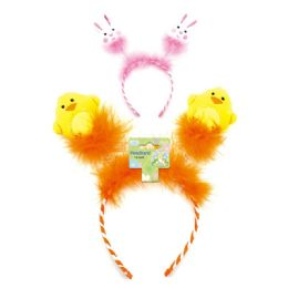 96 Units of Easter Headband With Glitter Egg - Easter