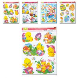 96 Units of Easter Window Clings - Easter