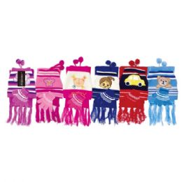72 Units of 3 Piece kid's scarf set - Winter Sets Scarves , Hats & Gloves