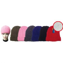 48 Units of Assorted Color Knit Hat - Winter Beanie Hats