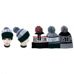 48 Units of Knit Hat Boston - Fashion Winter Hats