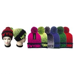 48 Units of Knit Hat NEW YORK - Winter Beanie Hats