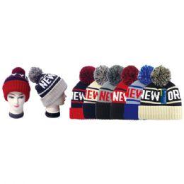 48 Units of Knit Hat New York - Fashion Winter Hats