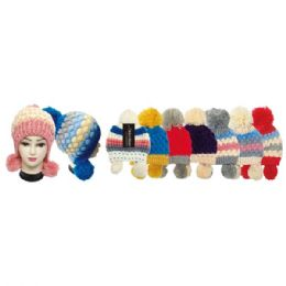 24 Units of Lady's Fashion Knit Hat - Fashion Winter Hats