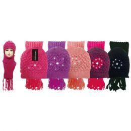 48 Units of Lady's Scarf Hat Set - Winter Sets Scarves , Hats & Gloves