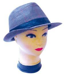 48 Units of Plaid Winter Hat - Fedoras, Driver Caps & Visor