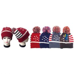 24 Units of Winter knit hat/flag - Winter Beanie Hats