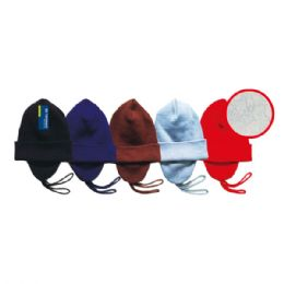 48 Units of Winter ski hat fleeced lined assorted Colors - Winter Beanie Hats