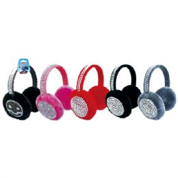 48 Units of Ear Muff With Rhinestone - Ear Warmers