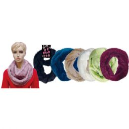 48 Units of Lady's infinity scarf In Assorted Colors - Winter Scarves