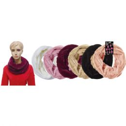 12 Units of Lady's infinity scarf In Assorted Colors - Winter Scarves