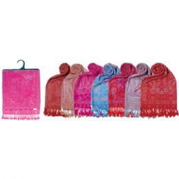12 Units of Lady's scarf In Plaid Assorted Colors - Winter Scarves