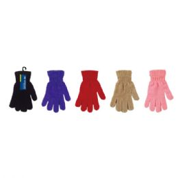 96 Units of Lady's Gloves In Assorted Colors - Knitted Stretch Gloves